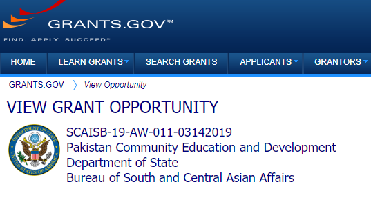 US Embassy announces funding for  the community Education and Development projects