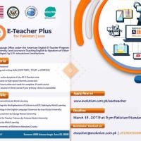 E-Teacher Summer 2019 program under US Embassy