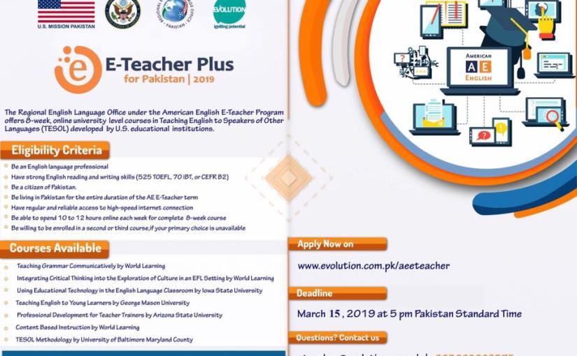 E-Teacher Summer 2019 program under USEmbassy