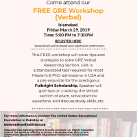 USEFP to host a free GRE (verbal) workshop