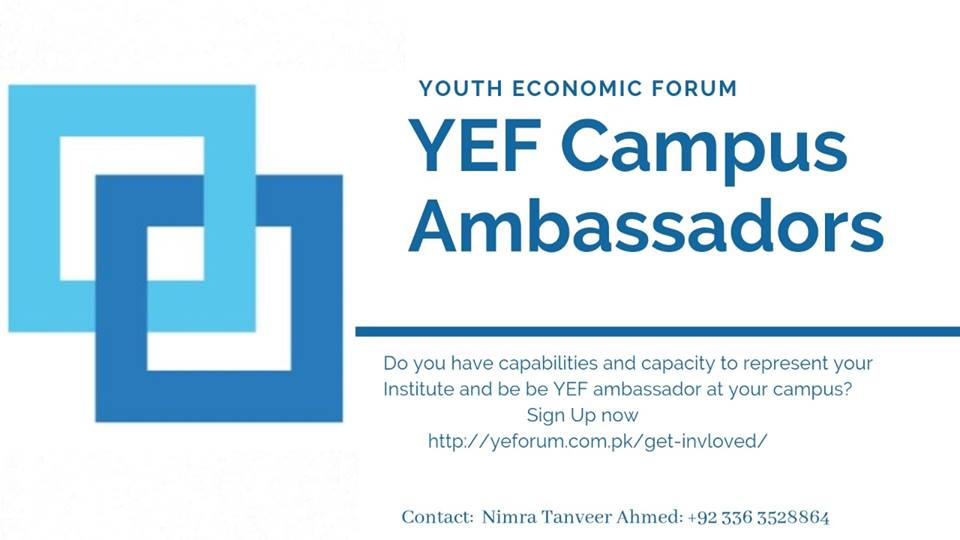 Youth Economic Forum Pakistan seeks applications for campus ambassadors