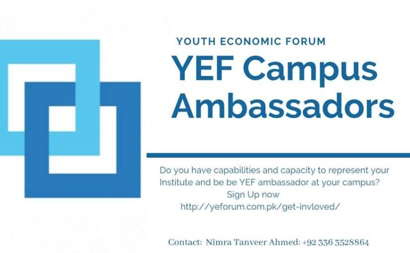 Youth Economic Forum Pakistan seeks applications for campusambassadors