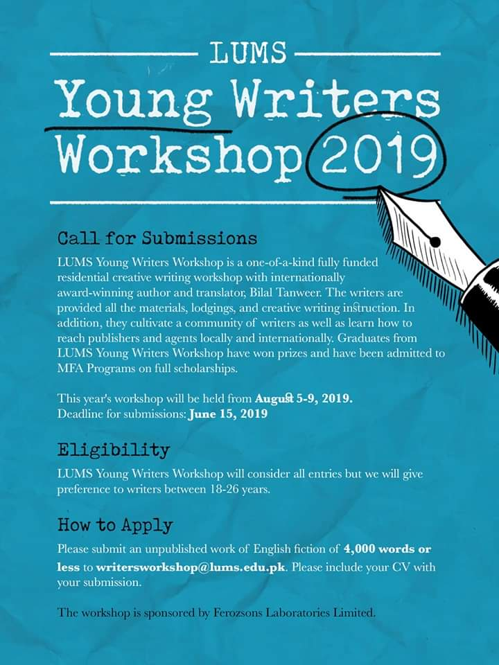LUMS writing workshop 2019 to be held in August