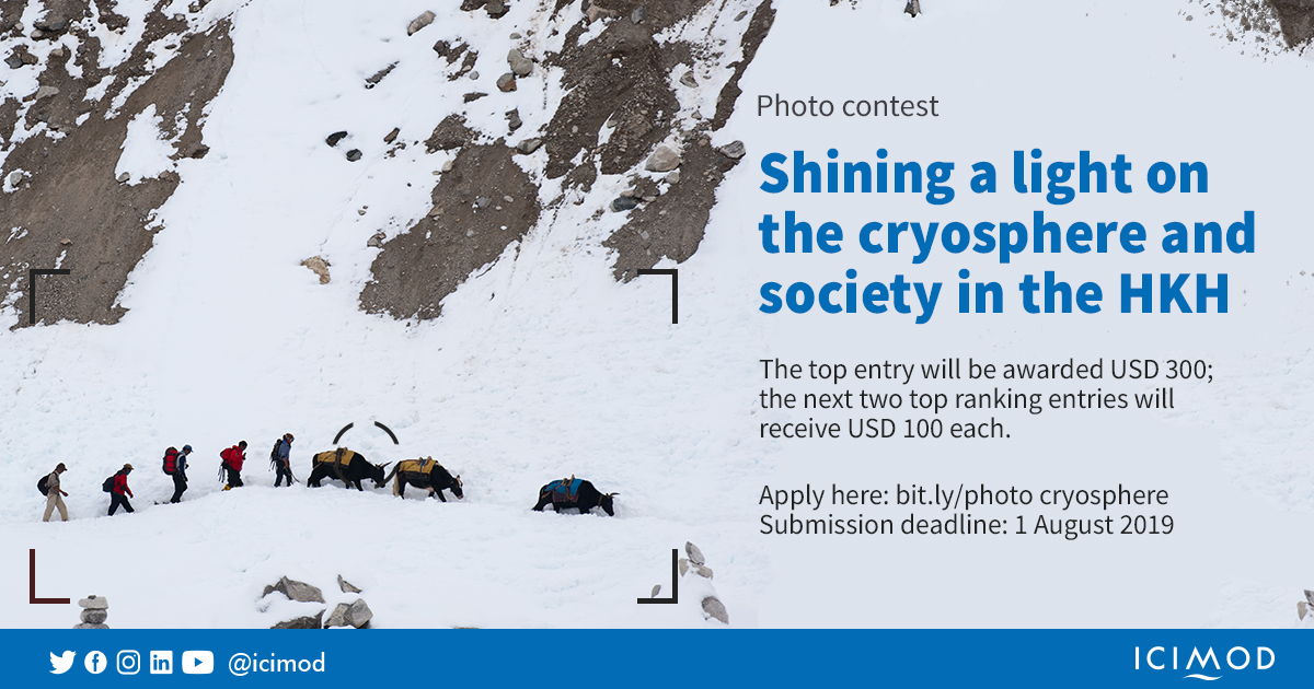 Photo contest: Shining a light on the cryosphere and society in the HKH