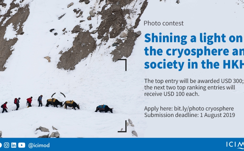 Photo contest: Shining a light on the cryosphere and society in theHKH