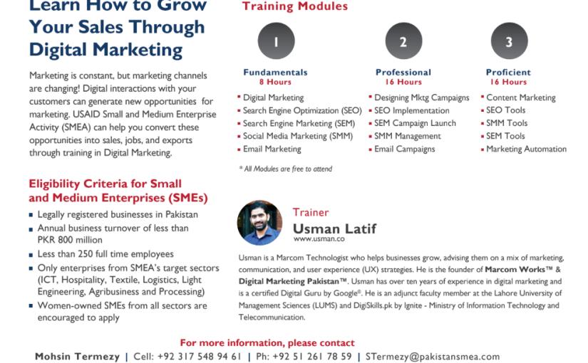 Chemonics to hold free 5-day training in Digital Marketing &Advertising