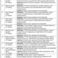 BISP announces vacancies for its World Bank funded projects