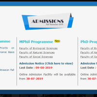 QAU announces MPhil/MS & PhD admissionsfor fall 2019
